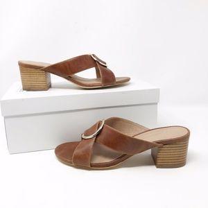 ANTHROPOLOGIE Jessie Heeled Sandals Honey NIB 7.5
